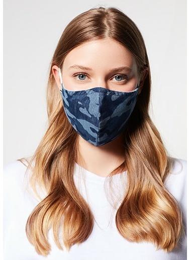 Mavi Kadın  Baskılı Maske 198066-18790 İndigo